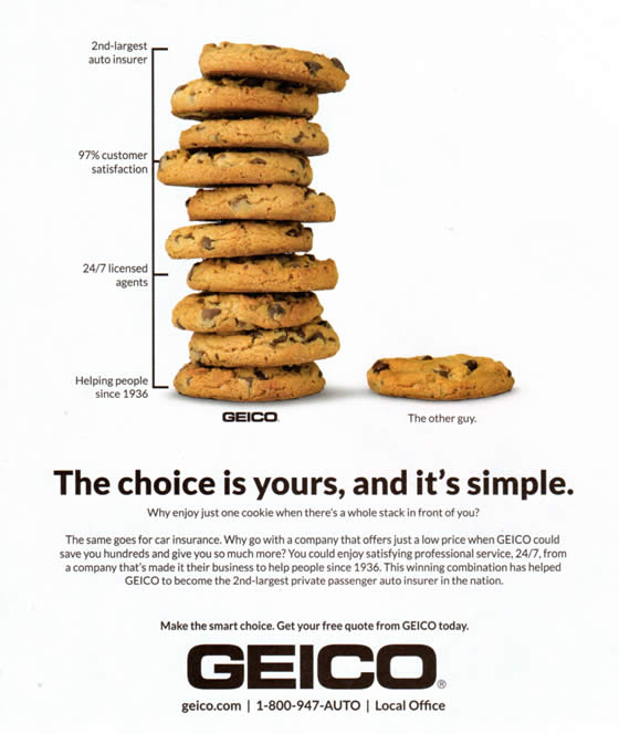 GEICO cookie ad